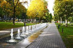 Politseiaed-puisto sijaitsee keskustan tuntumassa kävelymatkan päässä Stockmannilta Hilton Tallinn Parkin edustalla. Puistossa on mm. moderni leikkikenttä, näyttävä suihkulähde ja skeittiramppi. Puisto on uusittu viime vuosikymmenen alkupuolella. Nimensä se on saanut siitä, että se on taannoin toiminut vihannestarhana kaupungin poliisikunnalle. Bongaa myös hauska kukkaruukusta kasvava puu. #eckeröline #tallinna #politseiaed