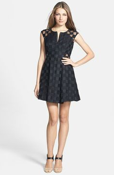 Milly Cotton Blend Fit & Flare Dress available at #Nordstrom