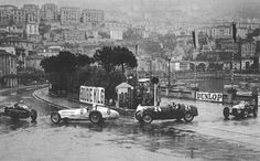 GP MONACO 1936 , Mercedes Benz W25K #8 of Rudolf Caraciolla  followed by Alfa Romeo 8C-35 #24 of Tazio Nuvolari