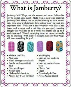 Jamberry Nails! Click the image to see what you can create with over 300+ designs. Find me on Facebook for a FREE sample:  https://www.facebook.com/jamberrynailswithsarahwiley