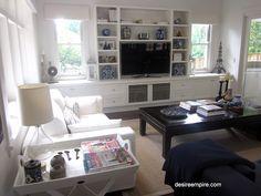 Shelves and tva wall unit