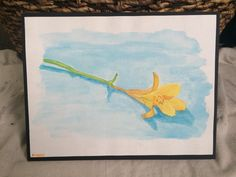 Watercolor Yellow Flower by TandFArtistry on Etsy