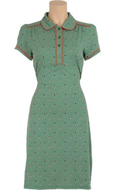 € 84,95 Polo dress Treasure  ♡ Vintage Inspired Summer   #Print   King Louie SS 2015 ♡