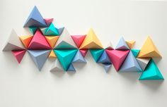 Dobradura de papel: uma ideia linda e barata para a sua parede - 4