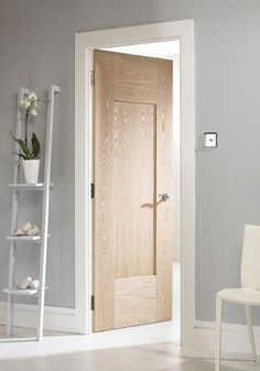 white shaker style internal doors - March 04 2019 at Shaker Style Interior Doors, Oak Interior Doors, Door Design Interior, Oak Doors, Pine Doors, Interior Rendering, Entry Doors, Entryway, Rustic Doors
