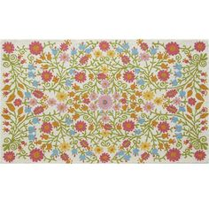 For the babys room. Kids' Rugs: Kids Cream Floral Garden Wool Rug in Patterned Rugs