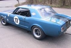 1966 Mustang Coupe Vintage Race Car Rear