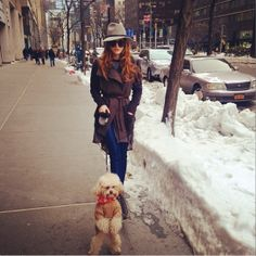 Bella Thorne and dog ❄️