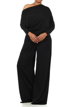 Plus Size Pantsuit, Sexy Black Pant Suits at Kami Shade