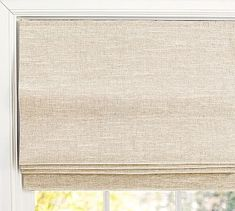 Discover Pottery Barn's collection of custom blinds and window shades. Our blinds come in cotton, linen and natural fibers adding sophistication to any room. Blackout Roman Shades, Linen Roman Shades, Farmhouse Roman Shades, Roman Shades In Kitchen, Roman Shades French Doors, Kitchen Shades, Kitchen Blinds, Pottery Barn, Plywood Furniture