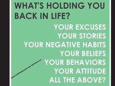 Ditch the excuses!