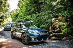 "Subaru Outback 2.5i 2016  lapis blue tires: 245/65R17 BFGoodrich All Terrain T/A KO2 Wheels: Fast Wheels FC-01 17x8+40 Lift kit: 2"" LP Aventure Skid plate: LP Aventure Bumper Guard: LP Aventure LED bar: RTXline Cargo basket: Yakima Load Warrior + Extension + Spare Tire Carrier Bike Rack: Yakima Boa Awning: ARB Awning 2000"