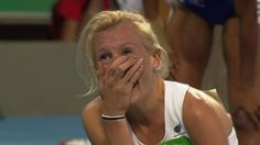 Britain's Georgina Hermitage sets a world record of 13.13 seconds to win the T37 100m Paralympics title in Rio.