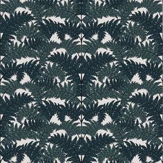 Inferno Wallpaper Teal | House of Hackney | 'Inferno' brings the leafy outdoors inside through its Art Deco-inspired climbing botanical fern design