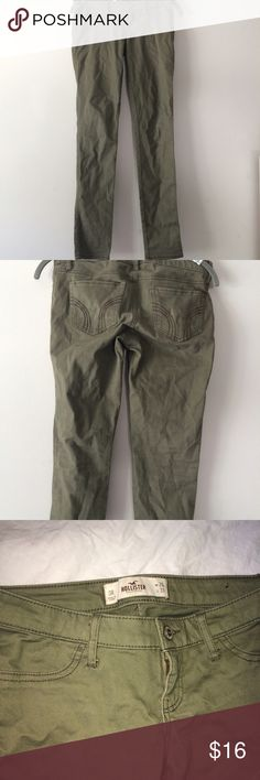 Khaki skinny jeans In good condition. Let me know if you have any questions :) Hollister Jeans Skinny
