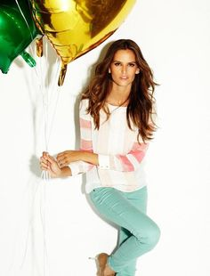 #Model #Mint #Jeans #Editorial #Balloons #Spring #Style #Fashion #BiographyInspiration