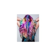 Rainbow hair colors ❤ liked on Polyvore featuring beauty products, haircare and hair color