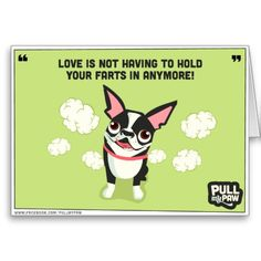 Pull My Paw - Boston Terrier Greeting Card