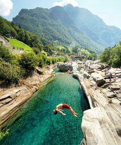 Lavertezzo, Switzerland The best swimming pools are made of rock Photography by Chris Burkard