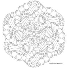 Dotted mandala to color- also available as a jpg #coloring  Lots of mandala colouring on this site...