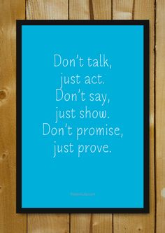 Buy Framed Posters Online Shopping India | Prove Your Promise Glass Framed Poster | PosterGully
