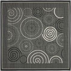 Safavieh Courtyard Black/Sand Circle Outdoor Rug & Reviews | Wayfair