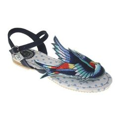 a96bb1f84bb9 Miss L Fire Women s Bluebird Multi Ankle Strap BLUBLU37 4 UK