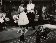 Mademoiselle Editorial Shipboard Romantics, April 1959  Jeanne Scott dress