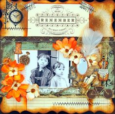 So may beautiful elements to this #scrapbook page.