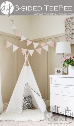 3 Sided Teepee | 12 Fun DIY Teepee Ideas for Kids , see more at: http://diyready.com/fun-and-exciting-diy-teepee-ideas-for-kids/