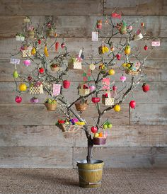 Carrie's Giving tree was inspired by advent calendars, with the goal of making the holiday season more about giving and less about getting.