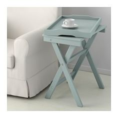 IKEA - MARYD, Tray table, pink, , You can fold the table and put it away when it is not needed.You can use the removable tray for serving.The tray has an extra wide edge and high sides that prevent spills and make it easy to carry.