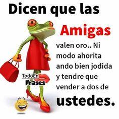 Amistad Funny Spanish Jokes, Mexican Funny Memes, Spanish Humor, Spanish Quotes, Funny Jokes, Romantic Humor, Mafalda Quotes, Boss Bitch Quotes, Happy Birthday Sister