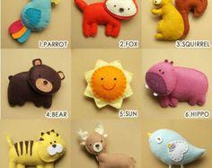 Bebé móvil de cuna selva móvil animales móviles por Feltnjoy