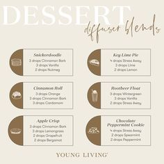 Young Living Oils, Young Living Essential Oils, Essential Oil Combinations, Vanilla Essential Oil, Diffuser Recipes, Essential Oil Diffuser Blends, Dessert, Aroma Therapy, Lime Pie