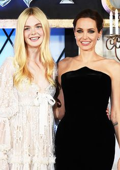 """Elle Fanning and Angelina Jolie attend """"Maleficent"""" Japan premiere"""