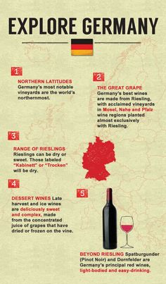 5 Quick facts about German wine. Learn more at our Guide to Wine!
