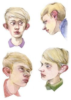 Illustrations (portraits) by Dima Rebus, via Behance