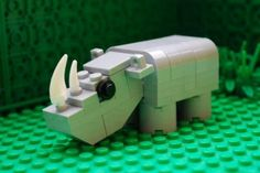 #LEGO Rhino. His head moves.  Building instructions included.