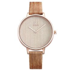 Shengke 2018 New Creative Women Watches Casual Fashion Wood Leather Watch Simple Female Quartz Wristwatch Relogio Feminino Outfit Accessories From Touchy Style. Cheap Watches, Cool Watches, Watches For Men, Women's Watches, Wrist Watches, Luxury Watches, Swiss Army Watches, Vintage Watches, Leather Fashion