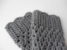 Gray Boot Cuffs  Leg Warmers  Crochet by ShelleysCrochetOle, $12.00