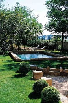 Another raised edge pool. reminds me of italy. Outdoor Spaces, Indoor Outdoor, Outdoor Living, Outdoor Decor, Small Patio Furniture, Outdoor Furniture Sets, Furniture Ideas, Dream Pools, Village Houses