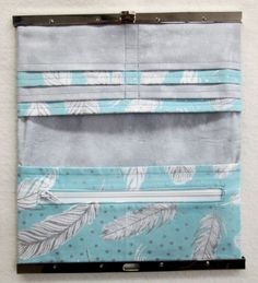 Clarabelle Feather Diva Frame Wallet Kit 8in x 4.5in when closed