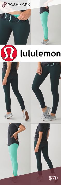 SALE❤️- LULULEMON Athletica REVERSIBLE Leggings LULULEMON Athletica Leggings ✨Reversible ✨Cute worn either way! ✨Gently loved ✨Minor piling (please refer to pictures)   ✨OPEN TO ALL OFFERS ✨BUNDLE YOUR LIKES AND I'LL MAKE YOU AN OFFER! lululemon athletica Pants Leggings