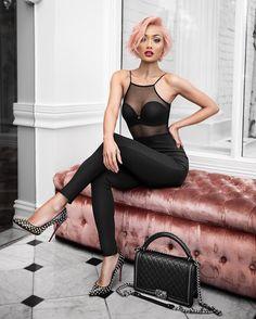 micah gianneli outfit-chic-black - Jennifer Home Fashion Blogger Style, Look Fashion, Fashion Models, Fashion Beauty, Female Fashion, Fashion Bloggers, Swag Outfits, Fashion Outfits, Womens Fashion