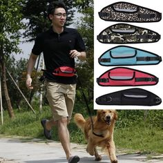 1pc Retractable Hands-free Elastic Adjustable Waterproof Running Dog Leash Bag For Walking Jogging Running Pets A Complete Range Of Specifications Climbing Bags Sports & Entertainment