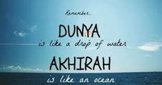 Take care of your hereafter.