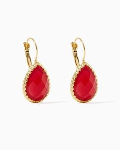 Teardrop Treasure Earrings   UPC: 450900471378 Fuchsia, Pink, Rose, Hot Pink, Roseberry, Valentine's