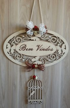 Decoupage Vintage, Vintage Decor, Wood Crafts, Diy And Crafts, Arts And Crafts, Name Plate Design, Welcome Signs Front Door, Laser Cut Box, Laser Cutter Ideas