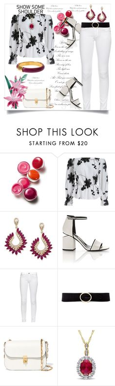 """Shimmy, Shimmy: Off-Shoulder Tops"" by helenaymangual ❤ liked on Polyvore featuring Clinique, Effy Jewelry, Alexander Wang, rag & bone, Linea Pelle, Valentino, Diane Von Furstenberg and off"